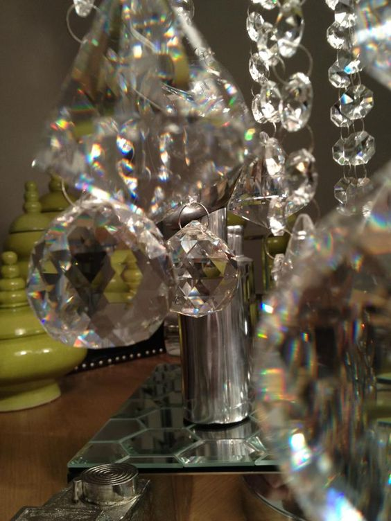 Darcy's sparkly lamp crystals
