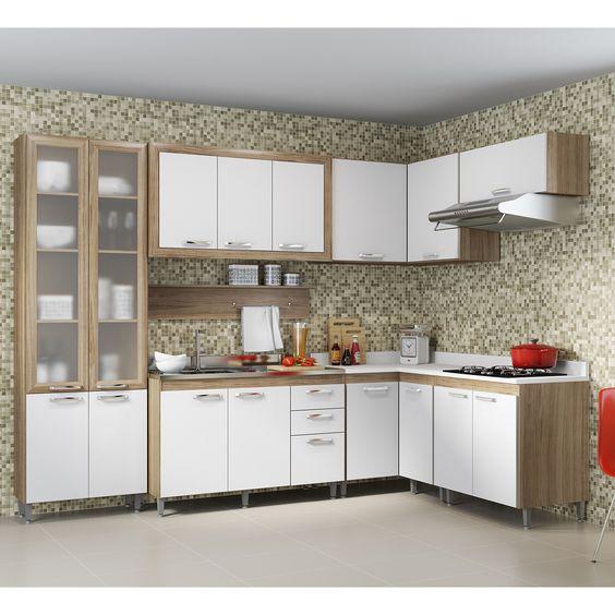 Cozinhas podem ser práticas e lindas para a decoração! Esta tem até vários compartimentos pra ajudar na #organização! #decoração #design #madeiramadeira