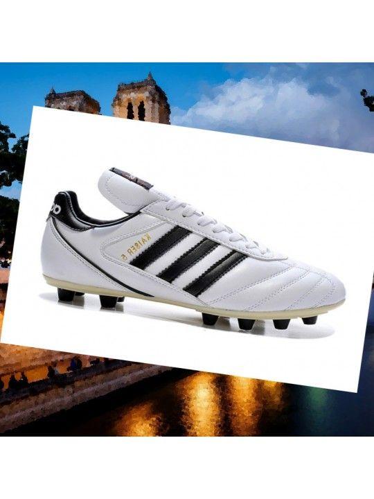 adidas kaiser 5 liga cuir blanc fg chaussures de football noir uk 42NJa