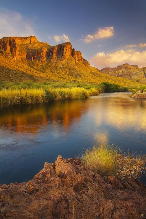River Days- Late afternoon light after a clearing monsoon storm over the lower salt river.