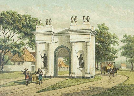 Amsterdamsche poort in Batavia.