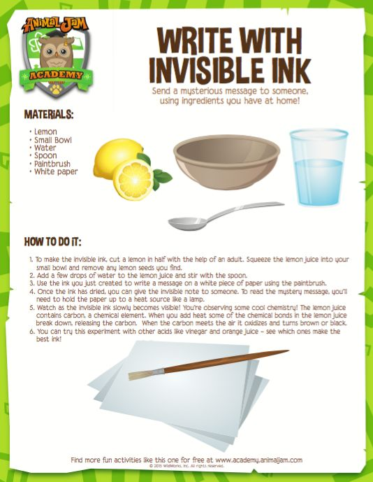 What is invisible ink, the thing?