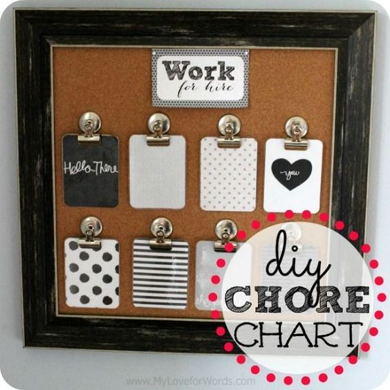 Easy DIY Chore Chart using Project Life cards that can easily be mistaken for wall art. So pretty!