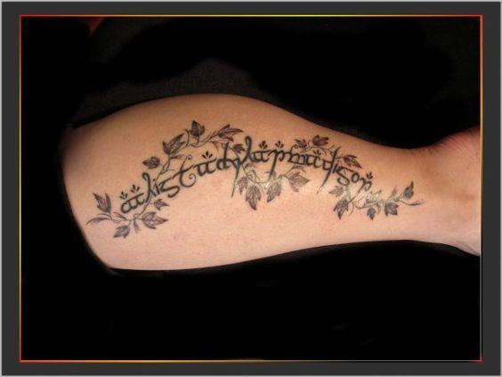 Prenom Elfique Tattoos