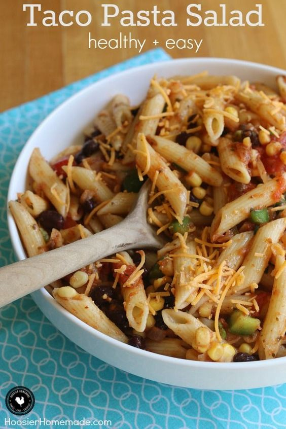 favorite Taco flavors! And bonus - it's healthy too! This Taco Pasta ...