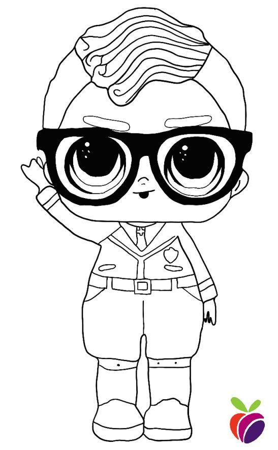 Lol Surprise Boys Coloring Page Smarty Pants Coloring Pages For Boys Boy Coloring Cute Coloring Pages