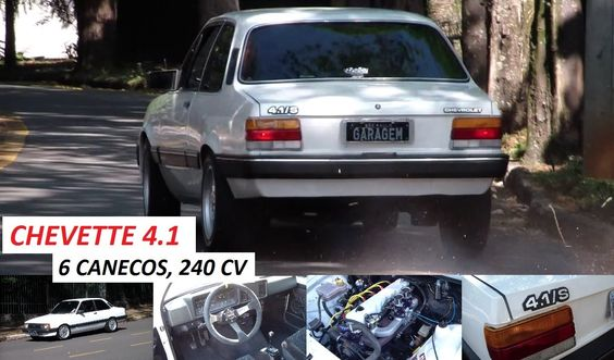 Garagem do Bellote TV: Chevette com motor 4.1 (seis cilindros, 240 cv)
