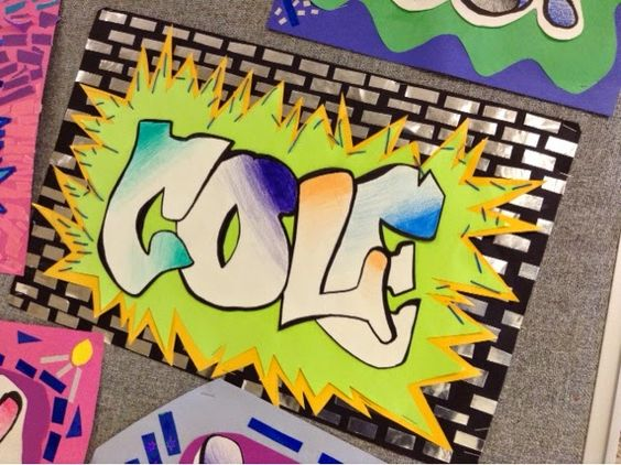 Art at Becker Middle School: Graffiti Mola Names