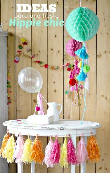 Ideas para una fiesta hippie chic for Decoracion hippie chic