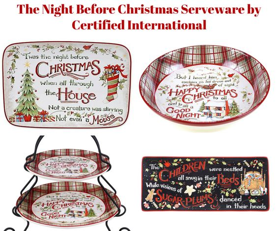 The Night Before Christmas Serveware by Certified International