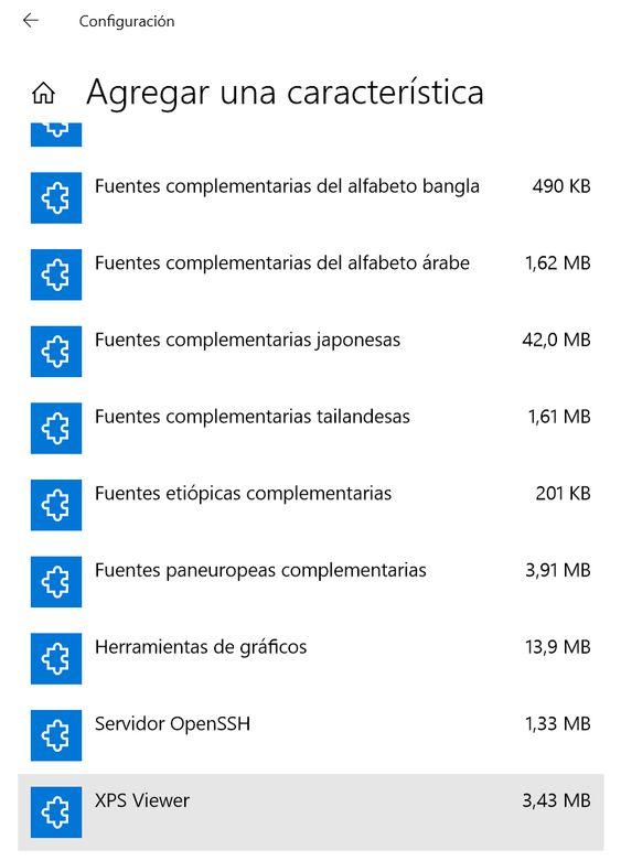 Agregar una característica a Windows