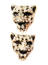 Cheetah Post Earrings, available in gold and silver tones from acharmedlifeboutique.com for $44.00