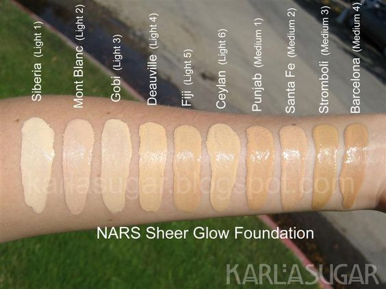 NARS Sheer Glow Foundation Swatch 01