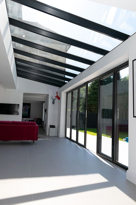 Bifold Doors And Atlas Glass Roof Installation In Cuffley