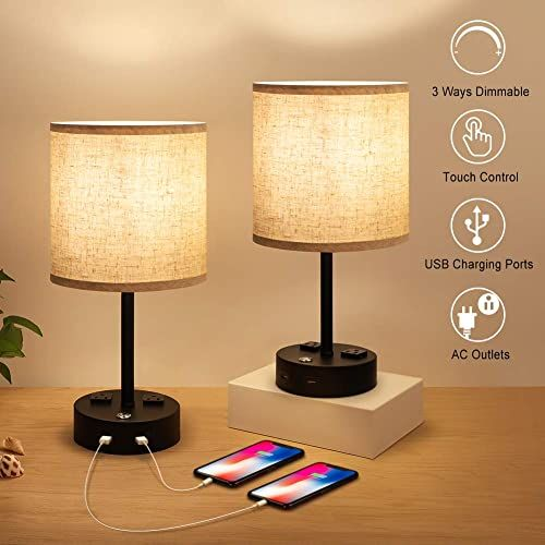 New Bedside Lamps Nightstand Lamps For Bedrooms Set Of 2 Touch Control Dimmable Modern Table Lamp W In 2020 Modern Table Lamp Bedroom Lamps Nightstand Modern Lamp Sets