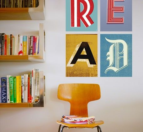 Screen Print Letters- custom lettering fabric wall decals by Methane Studios. Available in Classic and Epic sizes!