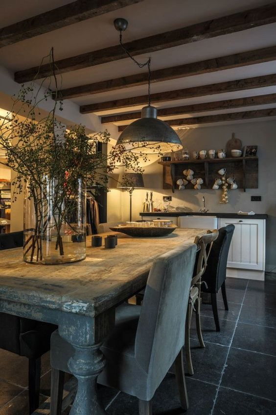 Hello Lovely Inspiration For Interiors Beautiful Belgian Timeless Kitchen De Farmhouse Dining Rooms Decor Dining Room Decor Rustic French Country Dining Room
