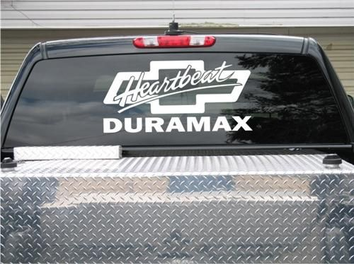 Duramax Heartbeat Of America X For Cars Trucks Get Yours - Chevy windshield decals trucks