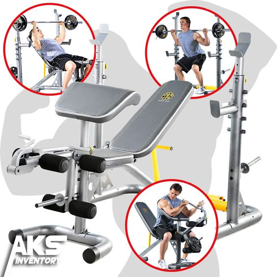 Let the versatility and clever engineering of the Gold's Gym XRS 20 Olympic Workout  Bench take unnecessary stress out of your exercise routines.
