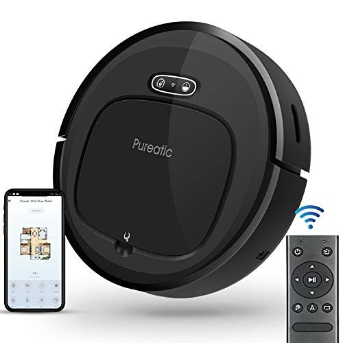 Pureatic V2s Robot Vacuum Cleaner With Smart Mapping Dual Remote And App Control 1500pa Strong Suction Wi Fi In 2020 Robot Vacuum Vacuum Cleaner Robot Vacuum Cleaner
