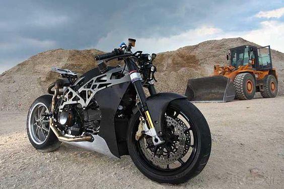 CAD built custom Ducati with carbon fiber fairings