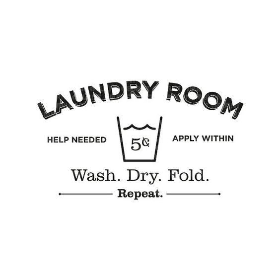 Laundry Room Decal Vinyl Wall Decal Sticker on Etsy, $20.00