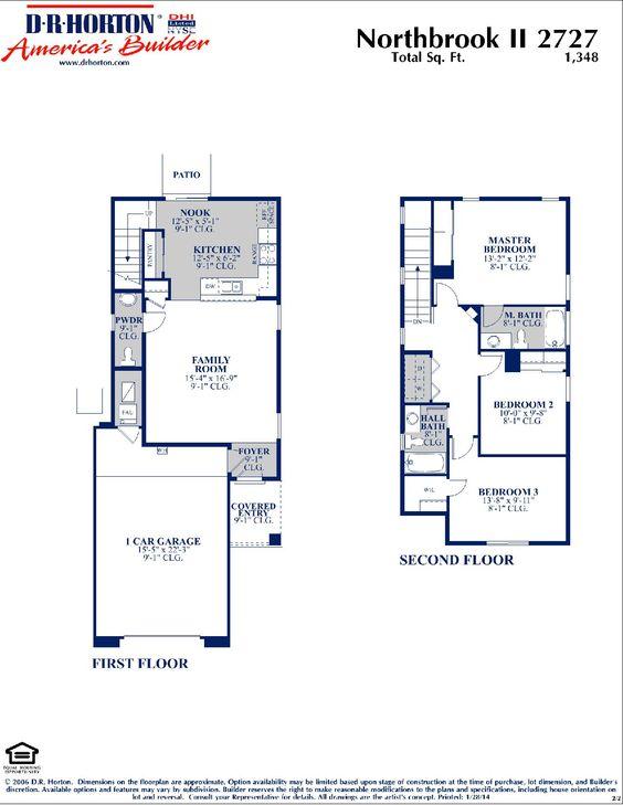 DR Horton Northbrook II Floor Plan via wwwnmhometeamcom DR