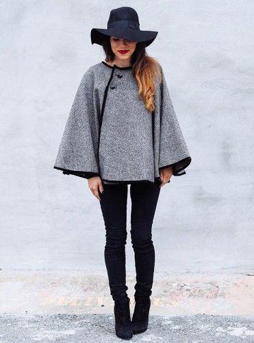 ¿Quién dijo frío con esta linda capa? #costura #yolohice