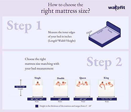 Bed Sizes Queen Memory Foam Mattress, Wakefit Orthopaedic Memory Foam Mattress Queen Bed Size