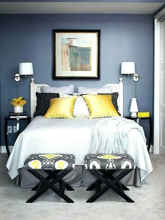 navy blue yellow and grey bedroom gray and navy bedroom ...