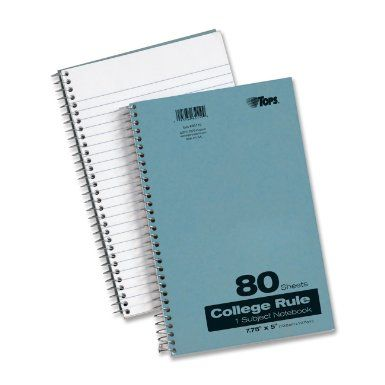 Amazon.com: TOPS Kraft Cover Notebook, 7.75 x 5 Inch, College Rule, 80 Sheets, Blue (65119): Office Products
