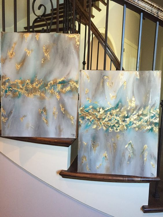 18 x 24 Acrylic Textured Abstract Coated with by SarahKKreations