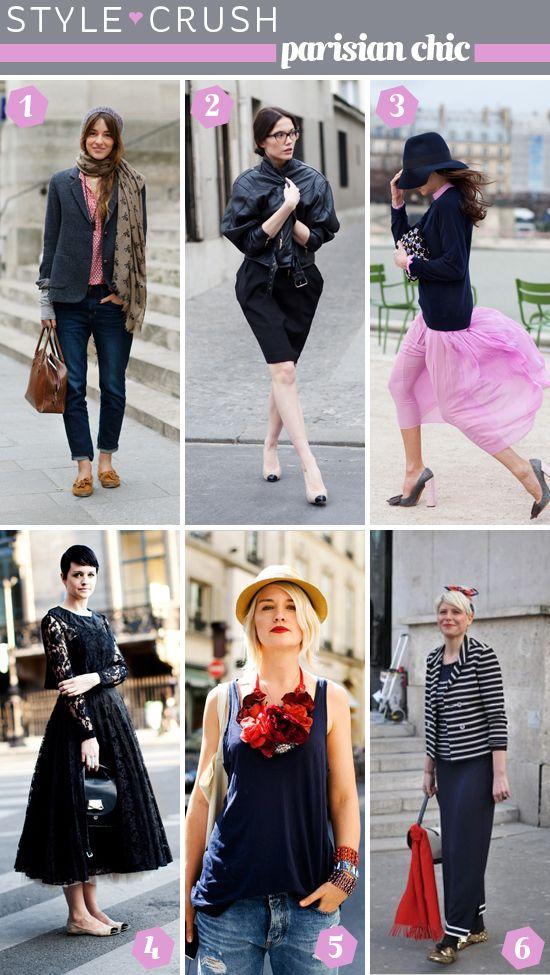 Parisian style. Photos by The Sartorialist, Garance Doré, and Lucky Magazine. Layout by Elembee, Etc.