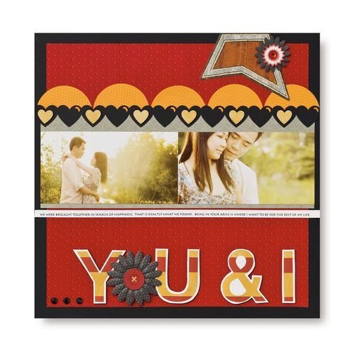 You & I Monogram Scrapbook Layout Project Idea from Creative Memories #scrapbooking    www.creativememor...
