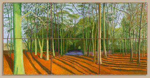 David Hockney, currently at the RA