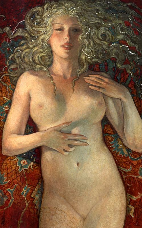 """Medusa"" new work by Rebecca Guay at the R, Michelson Galleries."