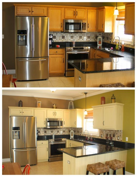 Pinterest the world s catalog of ideas for Annie sloan chalk paint kitchen cabinets before and after