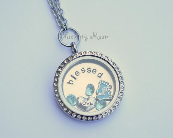Baby Boy Gifts Jewelry : New mom locket necklace floating charm glass