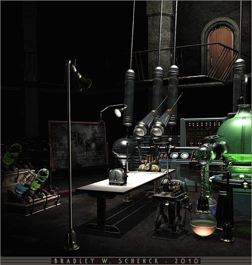Digitalrevolution Blog Retro Sci Fi: Retro Sci-fi Mad Scientist Lab - Reference Pic