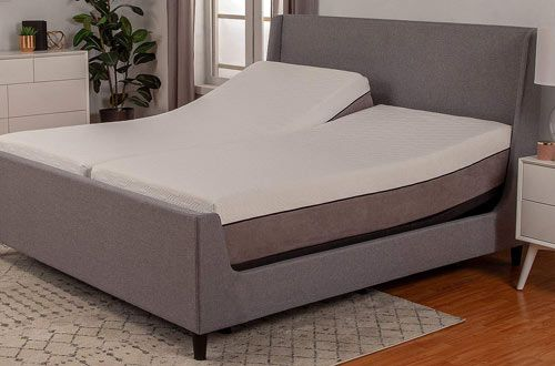 Cal King Split Adjustable Bed Base With Wireless Remote Head And