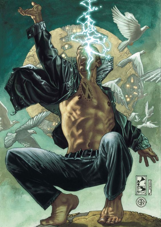 Nate Grey: The X-Man - History: Created by Sinister from Cyclops  Jean Grey's DNA on a world ruled by Apocalypse.  He was created solely to destroy Apocalypse.
