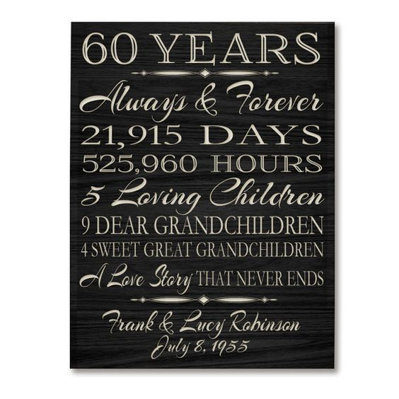 Gift Ideas 60th Wedding Anniversary Grandparents : ... anniversary awesome anniversaries anniversary gifts 60th anniversary