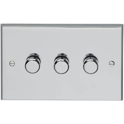 Metal Polished Chrome Dimmer Switch 3 Gang In 2020 Polished Chrome Chrome Carlisle Brass