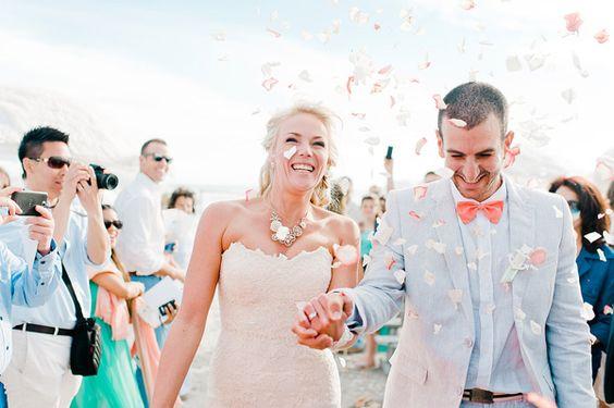 newlywed recessionals - photo by Nadia Meli http://ruffledblog.com/western-cape-beach-wedding