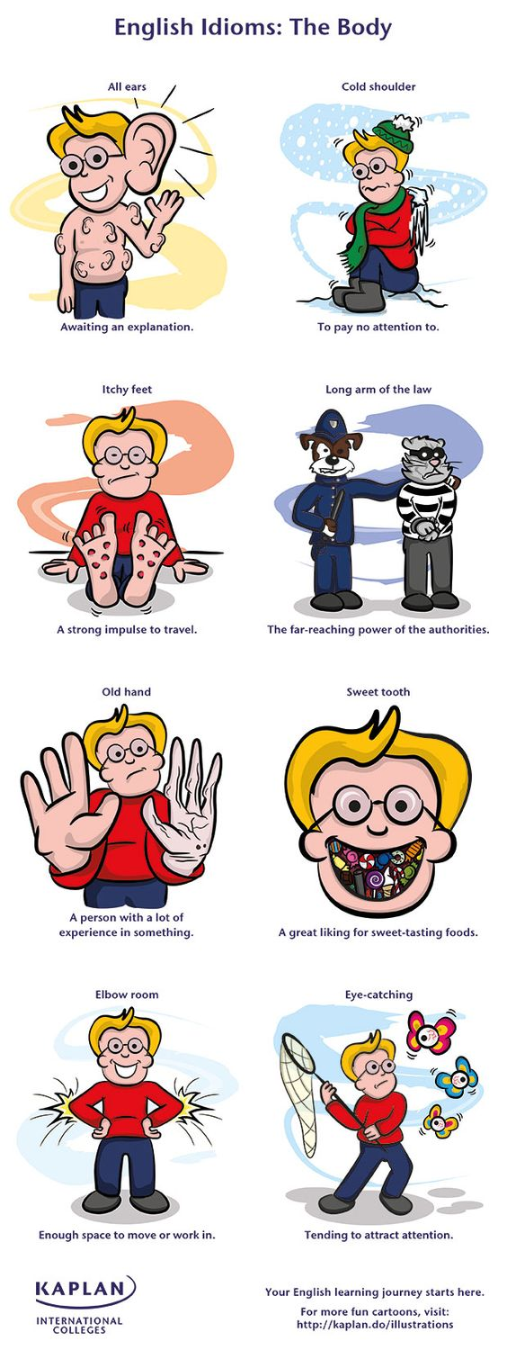 EwR.Poster #English 8 Creepy Body Idioms You Can't Speak Without - repinned by @PediaStaff – Please Visit ht.ly/63sNtfor all our ped therapy, school & special ed pins
