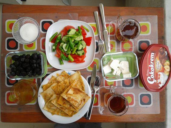 Mütevazi yaz kahvaltım :)