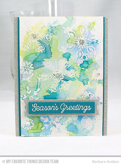 Handmade card from Barbara Anders featuring Snowflake Sparkle Card Kit…: