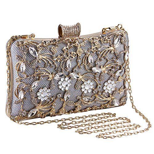 Women Lady Bridal Party Evening Prom Crystal Clutch Bag Handbag Purse Best Gift