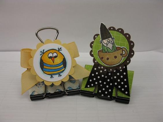 repurposed binder clips by ljn162 - Cards and Paper Crafts at Splitcoaststampers