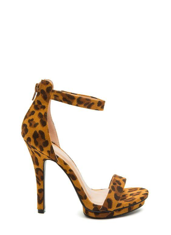 Step On It Leopard Platform Heels